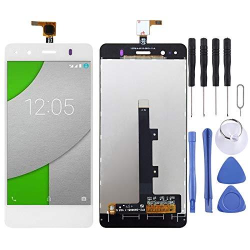 LIJUNGUO Pantalla LCD y ensamblaje Completo del digitalizador for BQ Aquaris A4.5 (Color : Blanco)