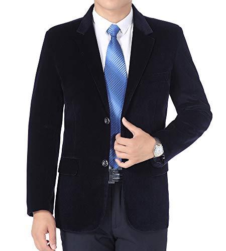 BISHE Mens Cord Blazer Ellenbogen Patches Anzüge Mantel Smart formales Abendessen passt Jacke Herren