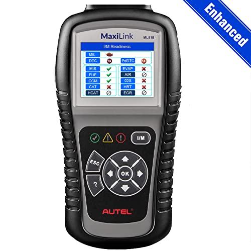 Autel MaxiLink ML519 OBD2 Diagnósticos Coche Lector de Códigos EOBD/Can Escáner Soporta los 10 Modos de OBDII con Modo Mejorado 6 - Versión Mejorada de Al319