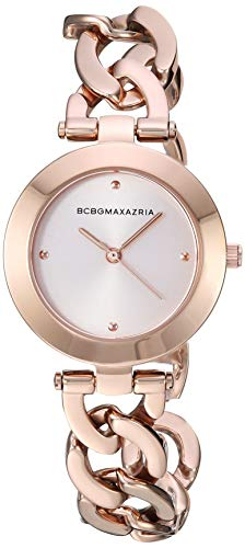 BCBGMAXAZRIA Women's Japanese-Quartz Watch with Stainless-Steel Strap, Rose Gold, 15.7 (Model: BG50695003)