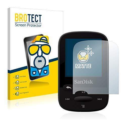 BROTECT 2X Entspiegelungs-Schutzfolie kompatibel mit SanDisk Sansa Clip Sport Displayschutz-Folie Matt, Anti-Reflex, Anti-Fingerprint