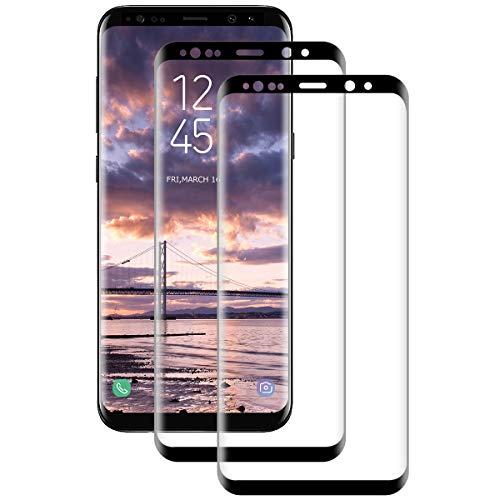 [2 unidades] Protector de pantalla de cristal templado para Samsung Galaxy S9 Plus, 3D Ultra-Clear, dureza 9H, sin burbujas, antiarañazos, HD