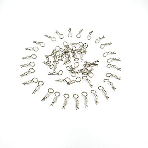 GDOOL 60pcs Durable Stainless RC Car Shell Body Clip Pins 15-WJ07, 0.8mm Universal Replacement Pins for 1/12 1/16 1/18 1/24 Scale RC Vehicles for 9112 9122 9123 9125 RC Cars