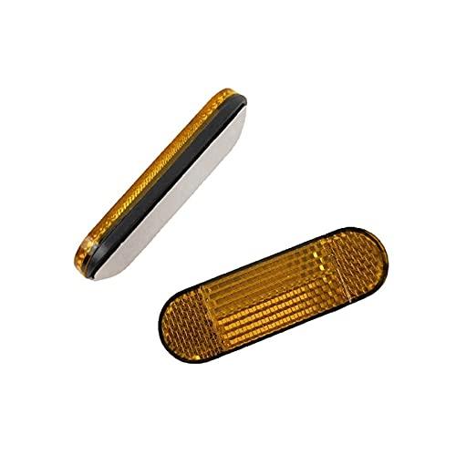 LJQSS Accesorios de Scooter 1 unids Scooter Coche Delantero y Trasero Reflector Reflector Reflector de Noche Adecuado para M-365 Monopatín eléctrico Fina Mano de Obra y Duradera