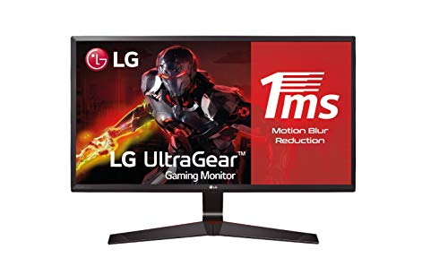 "LG 24MP59G-P - Monitor Gaming de 60,4 cm (23,8"") Full HD (1920 x 1080, IPS, 16:9, DisplayPort x1, HDMI x1, D-SUB x1, AUX x1, Antireflejo), Negro"