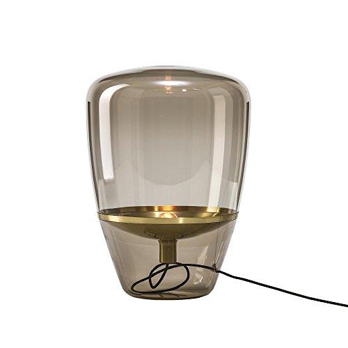 Balloons small vloerlamp, rookbruin reflector messing H: 40 cm x Ø 28,5 cm kabel zwart
