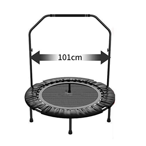 HYM Fitness Trampoline, Double Armrests Are Stable And Durable, Gym Gymnastics Bar Sports Equipment, Adult Mini Trampoline Garden/indoor/outdoor(Color:gray)