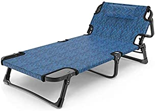 Folding Bed Simple Folding Bed Foldaway Single Guest Beds Adjustable Lounge Chair 5 Level Height Mattress Folding Bed Sing...