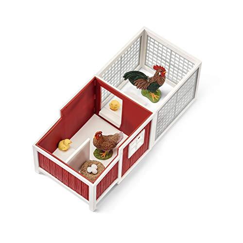 Schleich 42421 Farm World Spielset - Hühnerstall, Spielzeug ab 3 Jahren