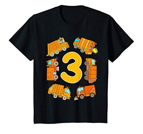 Enfant Anniversaire 3 Ans Camion Poubelle Balayeuse Garcon T-Shirt