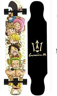 Mopoq Skateboard One Piece Longboard Four-wheel Skateboard Dance Board Men and Women Generations Youth Children Students A...