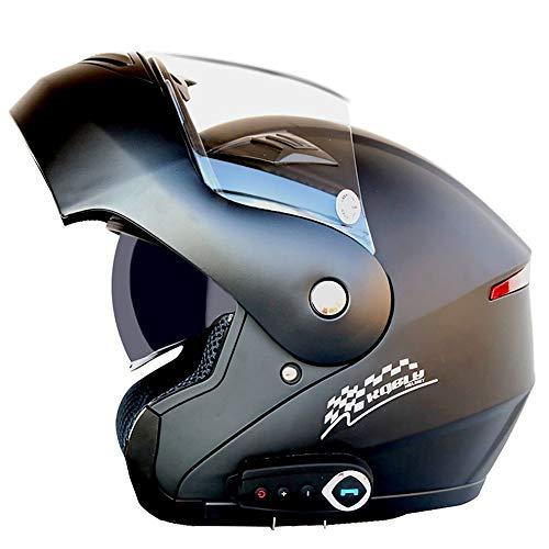 FAGavin Anti-Beschlag-Doppellinsen-Motorradhelm, Bluetooth-Helm, automatischer...
