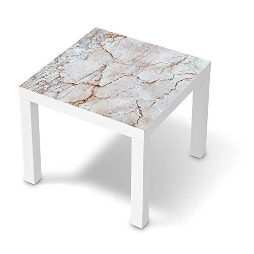 creatisto Möbel-Tattoo passend für IKEA Lack Tisch 55x55 cm I Möbelfolie - Möbel-Aufkleber Folie Tattoo I Deko DIY für Wohnzimmer und Schlafzimmer - Design: Marmor rosa