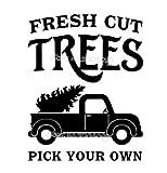 Fresh Cut Trees Choisissez vos propres citations Arbre de Noël Sticker mural Vinyle imperméable sticker pour fenêtre de voiture autocollant 56 * 71CM