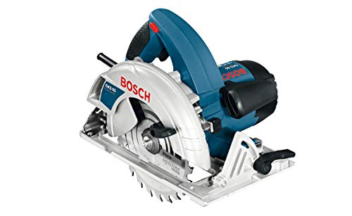 Bosch Professional GKS 65 Handkreissäge, 190 mm Sägeblatt-Ø, 30 mm Sägeblattbohrungs-Ø, 65 mm Schnitttiefe, HM-Sägeblatt, Parallelanschlag, Absaugadapter, 1.600 W, Karton