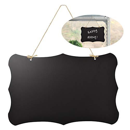 FEIGO Pizarra Vintage para colgar, Pizarra Vintage, Memos, para cocina pared, bodas, o menú caracteres, 30 x 20 cm