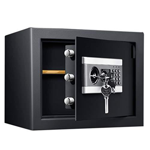 Tresor Safe mit Schlüssel und Kombination, kleine tragbare feuerfeste wasserdichte Geldtresore, Hotelauto-Reisebüro, 30 cm Höhe