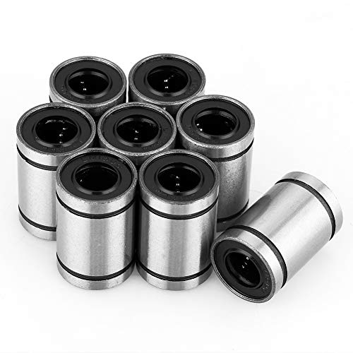 Lineaire kogellagers, lineaire lagers 8 stuks LM10UU 19 mm * 24 mm / 0,75 in * 1.14 in bewegingskogellager-lager-lager voor CNC-onderdelen van de 3D-printer.