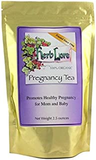 Herb Lore Pregnancy Tea - 60 Cups - Red Raspberry Leaf Tea with Nettle Leaf & Peppermint - First Trimester to Third Trimes...