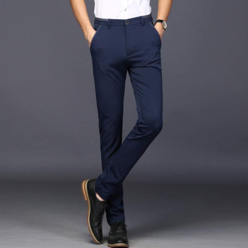 男士休闲裤西裤直筒2019新款韩版潮流薄款青年商务修身裤
