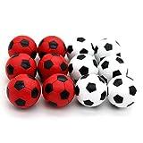 BQSPT Foosball Balls foose Balls Replacement 12 Packs,Table Soccer Balls Red and Black Ball 36mm White Soccer Foosalls,Regulation Size Foosball-Set of 12