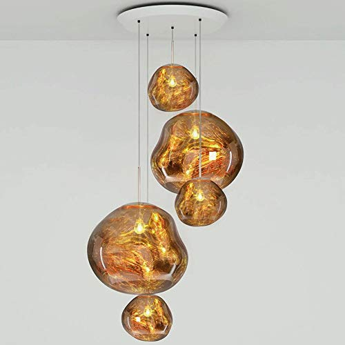 PHLPS Chandelier Nordic Style Volcanic Lava Glass Pendant...