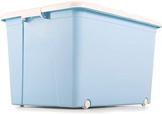 SHENRQIA Boîte De Rangement en Plastique pour Boîte De Vêtements Ménagers avec Couvercle Boîte De Rangement De Stockage D'...