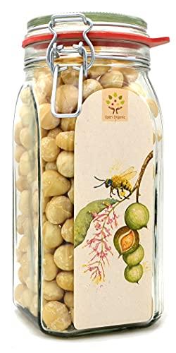 Bio-Macadamianüsse 800g im Glas, naturbelassen aus kleinbäuerlicher Landwirtschaft am Mount Kenya