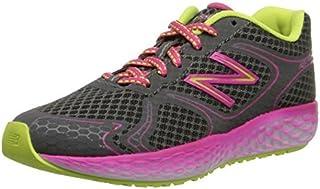 New Balance KJ980 Fresh Foam Running Shoe (Little Kid/Big Kid) Grey/Pink 5.5 W US Big Kid [並行輸入品]
