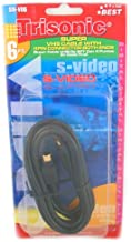 Trisonic SN-V06 24K Gold Plated S-Video 6ft. Cable with 4 pin connector at both ends