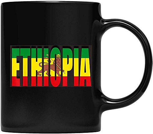 Kaffeetasse Äthiopien Flagge Äthiopien für Vater & Mutter Opa Oma & Fre& Geschenke
