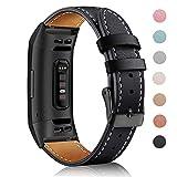 Mornex Bracelet Compatible Fitbit Charge 3 en Cuir,Bande de Remplacement Réglable...