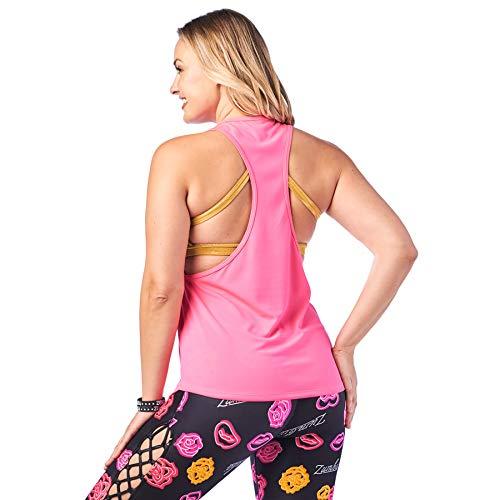 Zumba Activewear Backless Top Deportivo Dance Fitness Camisetas de Entrenamiento, Gumball 00, X-Small