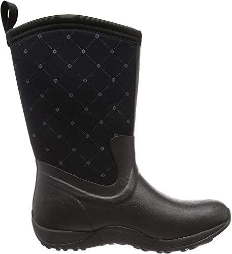 Muck Arctic Weekend Mid-Height Rubber Women's Winter Boots - Black Quilt - 8
