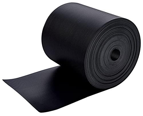 WDB Premium hård PP insynsskyddsremsor för dubbla stänger – polypropen insynsskydd för trädgårdsstaket och dubbelstaket – insynsskydd med staket – 26 m x 19 cm – svart – RAL 9005