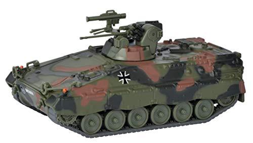 Schuco 452656600 Marder 1A2 Bundeswehr Version, Panzer, Modellauto, Zinkdruckguss, Maßstab 1:87, Flecktarnung