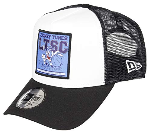 New Era Bugs Bunny A Frame Adjustable Trucker Cap Looney Tunes White/Black - One-Size
