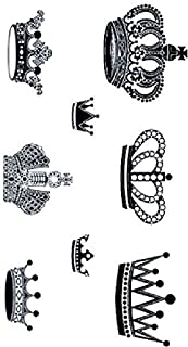 Crown Stickers Temporary Tattoo Waterproof Unisex