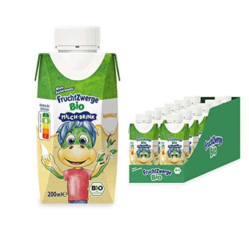 Fruchtzwerge Bio Milch-Drink Vanille, 12er Pack