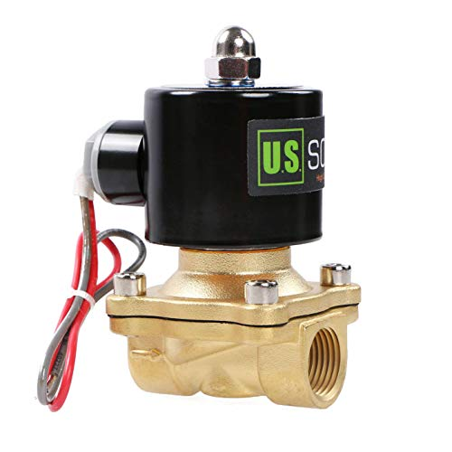 """U.S. Solid 24V AC 1/2"""" G Elettrico elettrovalvola Ottone normalmente chiuso Solenoid Valve Azionata direttamente Per Acqua Aria Olio"""