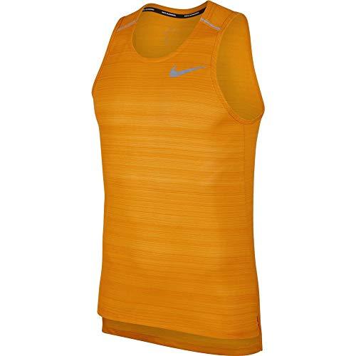 Desconocido M NK Dry Miler Tank T-Shirt sans Manches pour Homme M Multicolore - Orange, argenté (Orange Peel/HTR/Reflective Silv)