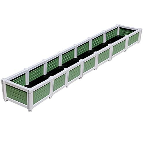SSZY huerto Urbano Cajas de Plantar Grandes de Plástico para Jardín Patio, Camas de Jardín Elevadas para Verduras Flores Suculentas, Interior Exterior Balcón Contenedor de Caja de Plantación
