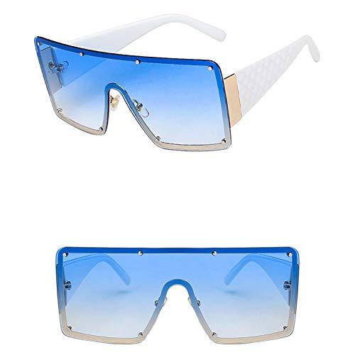 APCHY Gafas De Sol De Gran Tamaño para Mujer Gafas De Conducción Moda Retro Lente Grande con Montura Ligera Gafas De Sol con Protección UV400 para Mujer,6