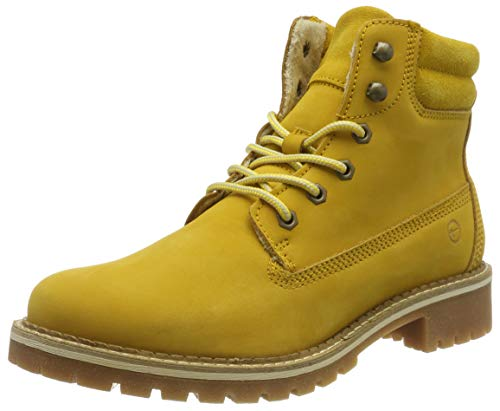 Tamaris Damen 1-1-25242-23 Combat Boots, Gelb (Saffron 627), 40 EU