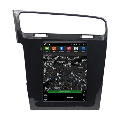 Amimilili Estéreo Multimedia 9.7 Pulgadas 2 DIN Radio para VW Golf 7 con Autoradio GPS Pantalla Táctil Bluetooth Video Cámara de Reversa Bluetooth Manos Libres,4 Cores WiFi 1+16