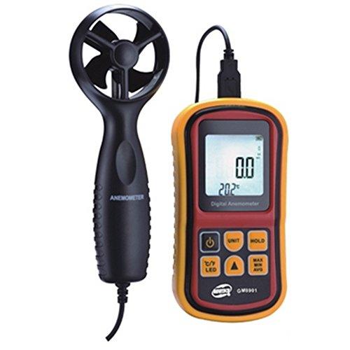 Usoland Digital: anemómetro de mano digital, sensor LCD de velocidad del viento Mini Smart., 0.61