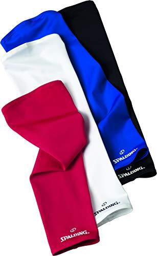 Spalding - Manicotti da Basket Uomo Shooting Sleeves, Taglia XL, 2 Pezzi, Blu (Blue Roi), XL