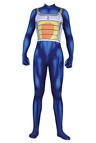 Xiemushop Juego de rol para Hombres Ropa para Adultos Conjunto Ropa Azul Ajustada Naranja Albornoz Anime Cosplay Accesorios para Disfraces,M