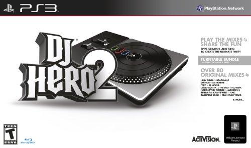 Activision DJ Hero 2 + Turntable, PS3 PlayStation 3 Inglés vídeo - Juego (PS3, PlayStation 3, Música, Modo multijugador, T (Teen))