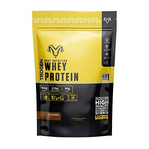 Whey Protein Shake Powder Mix Chocolate Flavour - 1kg - TROGEN NUTRA (Chocolate)